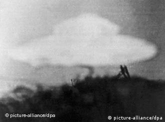 A photo from an alleged UFO sighting in the UK, 1954
