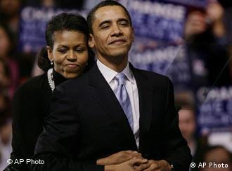 Barack Obama with wife, Michelle