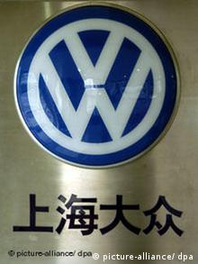 The Volkswagen logo with Chinese text