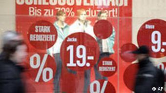 Deutschland Verbraucher Handel Winterschlussverkauf