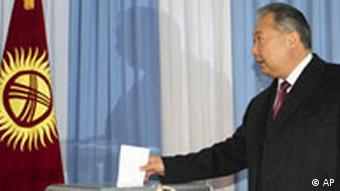 Parliamentary vote in Kyrgyzstan