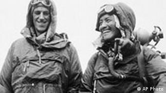 Sardar Tenzing Norgay of Nepal and Edmund P. Hillary of New Zealand
