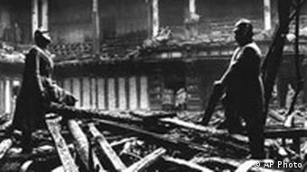 Inside the Reichstag following the fire in 1933