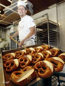 Pretzels fresh from the oven