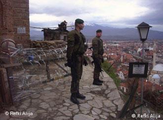 Солдаты бундесвера в Приштине