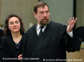 Stolz (left) and Jürgen Rieger, another neo-Nazi and Zündel lawyer