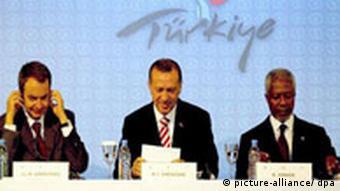 Zapatero, Erdogan and Annan at the forum