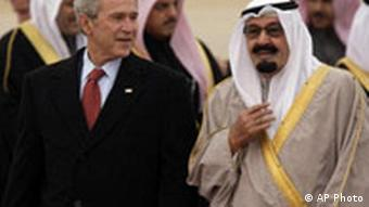George Bush in Saudiarabien
