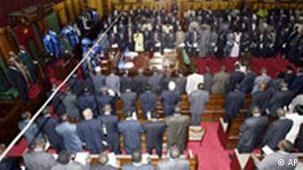 Kenya MPs assemble in Parliament Photo:Sayyid Azim (AP)