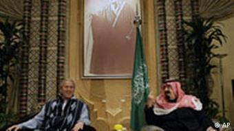 George W. Bush King Abdullah Saudi Arabien