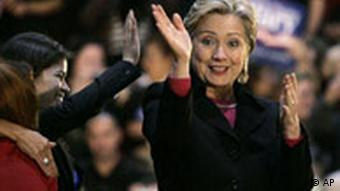 Hillary Clinton am Dienstag in Las Vegas, Quelle: AP
