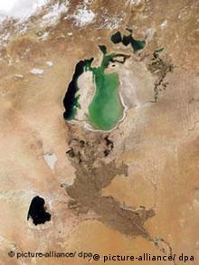 Satellite image of shrinking Aral Sea (Photo: NASA)