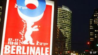 Deutschland Film Berlinale Plakat in Berlin Potzdamer Platz