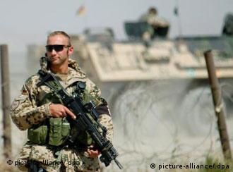 A German soldier in Afghanistan