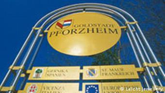 Pforzheim Stadteinfahrtsschild