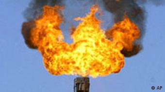 surplus gas is burnt at power station