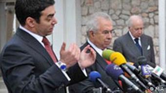 Mazedonisch-griechisch Verhandlungen Namenstreit in Ohrid