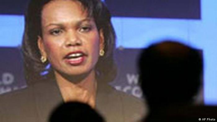 World Economic Forum Davos mit Condoleezza Rice (AP Photo)