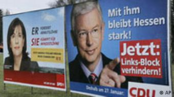 Campaign posters in Hesse