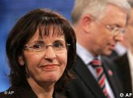 Andrea Ypsilanti (SPD) y Roland Koch (CDU)