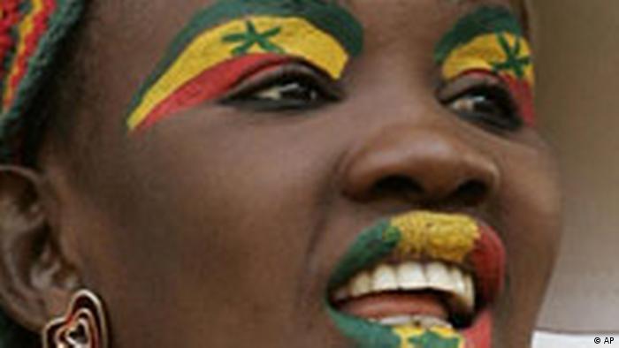 Fussball Afrika Cup 2008 Ghana, Fan aus dem Senegal (AP)