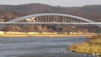 Computersimulation Waldschlösschenbrücke Dresden