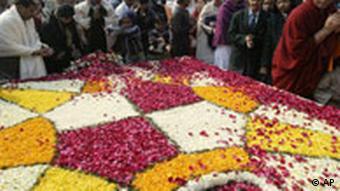 Gedenkzeremonie am Mittwoch in Neu Delhi, Quelle: AP