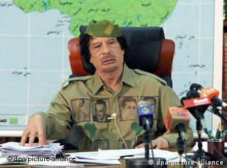 Kadafi em foto de 2008