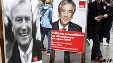 Deutschland Wahlen Hamburg Bürgerschaft Wahlkampf Plakat