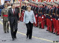 Zapatero y Merkel en Mallorca, a principios de 2008.