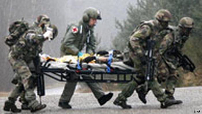 Frankreich Nato Deutsch Französische Brigade Übung (AP)
