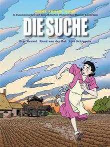 The German book cover of the Holocaust comic book The Search
