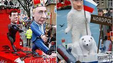 Deutschland Karneval Rosenmontag Köln Kombo Putin