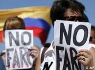 Manifestación contra las FARC, el 4 de febrero.