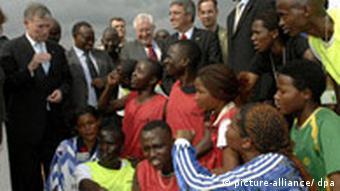 Koehler during a three-day visit to Rwanda in 2008