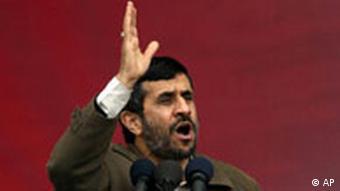 Iran Jahrestag der Revolution Präsident Mahmoud Ahmadinedschad