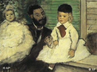 Ludovic Lepic y su hija, de Edgar Degas: uno de los cuadros robados en Zúrich.