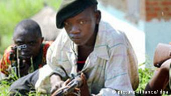 UPC soldier during shooting practice near Bunia (Photo: Archive)
