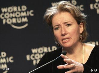 Ема Томпсън на Световния икономически форум в Давос