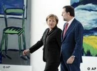 Mariano Rajoy visita Berlín en febrero de 2008