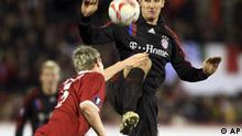 Fußball UEFA Pokal FC Aberdeen gegen Bayern München