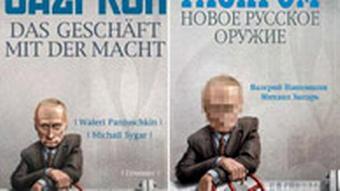 Montage Gazprom Buch russische neben deutscher Ausgabe