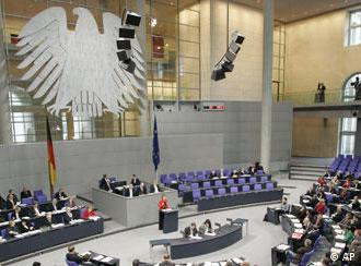 Najviše državno telo, Bundestag - plenarna sala