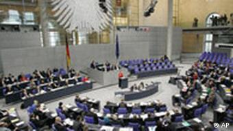 The German Reichstag during the debate on the stem cells research