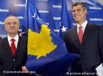 Kosovo's President Sejdiu and Prime Minister Thaci