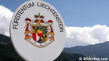 Grenzschild Fürstentum Liechtenstein