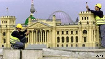 Der Reichstag als LEGO-Modell