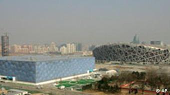 China Veranstaltungsorte Olympische Spiele 2008 National Stadium und der National Aquatics Center