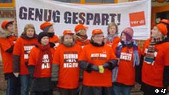 Members of German trade union Verdi
