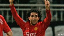 Manchester United Carlos Tevez in Lyon